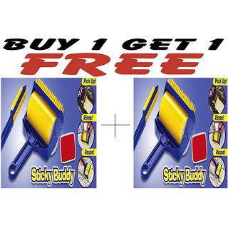 Combo of Sticky Buddy Sticky Cleaning Roller And Sticky Buddy Sticky Cleaning Roller