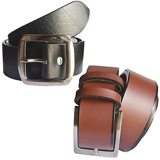 5e5bf9bbf32 80%off Sunshopping mens black and brown Leatherite needle pin point buckle  belt (COMBO)