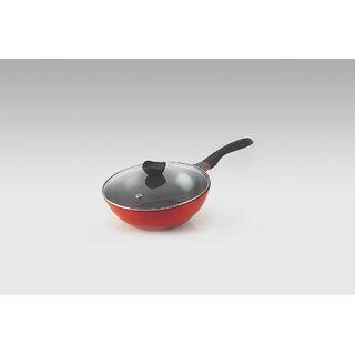 Alda Die Cast Premium Ceramic Coating Wok Pan with Glass Lid 30cm