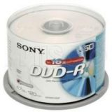 Sony 16X Blank Dvd-R 4.7Gb Dvdr 50Pcs