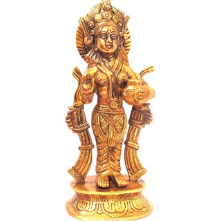 Divine Gods Lord Indra brass statue and Idol - 23.8 cms
