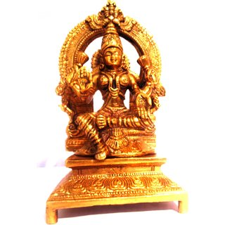 Divine Gods Lord Mahalakshmi brass statue and Idol - 17.3 cms