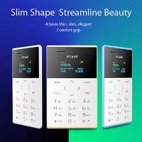 Ifcane E2 Blue Color,  Worlds Ultra Slim Credit Card Size  Smallest GSM , MP3, Latest Smart New Model.