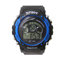 Mens Watch Quartz Digital Watch Men Sports Watches LED Digital Watch Blue