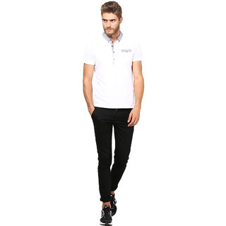 Inspire Black Slim Casual Chinos