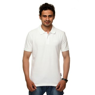 bright white polo t shirt for mens
