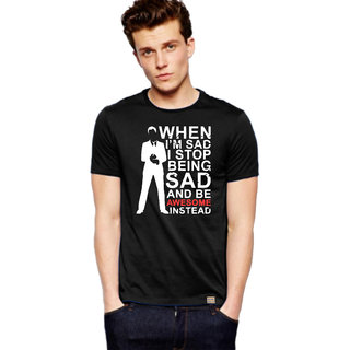 Barney Stinson How I Met your Mother black Cotton printed T-Shirt by Royal Nesher