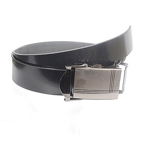 Aam Shopping Men Black Genuine Leather Belt ASB00683