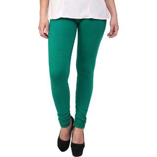 Escan Turquoise Lycra Solid Legging