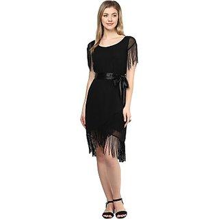 LY2 Womens A-line Black Dress