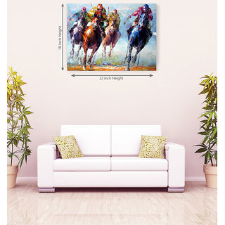 Runnig Horse Handmade Romantic Wall Canvas Painting
