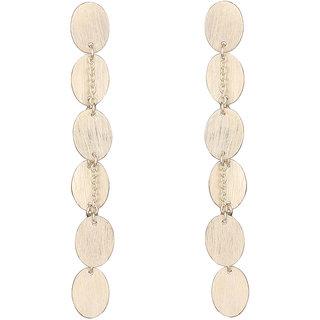 Mirror White 925 Sterling Silver Matt Oval Earrings (MWSS417)