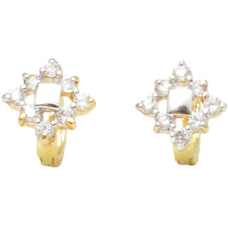 Reva Gold and Silver Alloy Fashion Clip On Earring