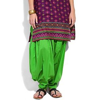 Escan Green Cotton Plain Salwar