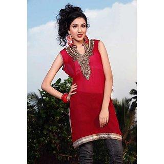 Bollywood Designer Red Kurti - Design 1