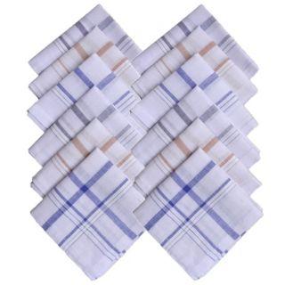 100% Cotton  Premium quality Men's Handkerchiefs (Pack of 6)