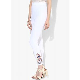 woman white legging