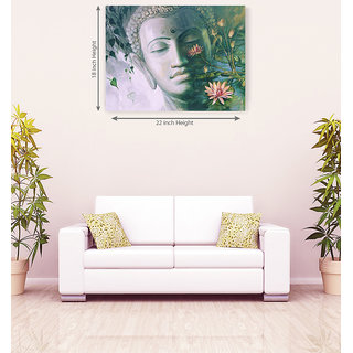 God Buddha Floural Canvas Painting