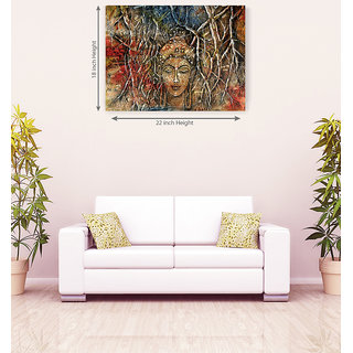 Lord Buddha Mstery Of Face Hand Made Canvas Painting