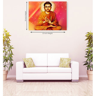 Lord Buddha Polite Canvas Painting