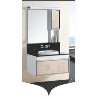 Elegant casa Main Cabinet  900X500X500Mm Mirror Cabinet  900X1000Mm White class=