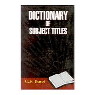 Dictionary of Subject Titles