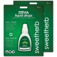Sweetherb Stevia Sugarfree Liquid - 30 ml (Combo of 2)