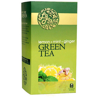 LaPlant Lemon Mint Ginger Green Tea - 25 Tea Bags