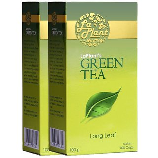 LaPlant Green Tea Long Leaf - 200g (Pack of 2)