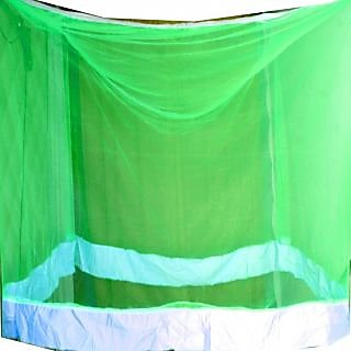 shiv green mosquito net for double bed babby,men,women etc 6.56.5
