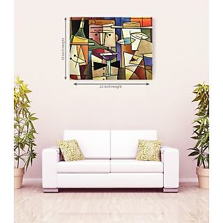 Attractive Face Multicolorful Romantic Canvas Painting