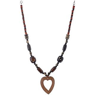 The Roots Brown Resin Necklace for Women (Root-0029)