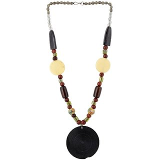 The Roots Brown Resin Necklace for Women (Root-0028)