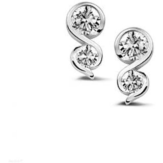 Silvosky Charming Rhodium Plated Silver Stud Earring SE2034