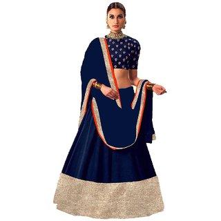 Style Amaze Blue color Art silk  Lehenga choli