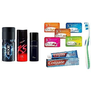 Special 10 in 1 combo 3 Deos + 5 soaps + toothbrush + Toothpaste