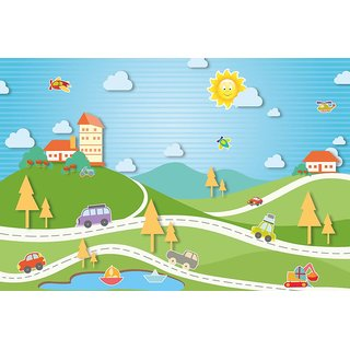 Walls and Murals Drive Down The Country Roads Kids Peel and Stick Wallpaper in Different Sizes (48 x 72)