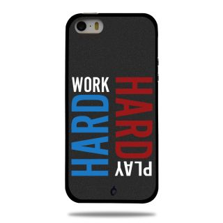 Cool Mango Printed Pudding TPU Back cover for Apple iPhone 5S / iPhone SE - Flexible Protection Case for iPhone 5S / iPhone SE (Work Hard, Play Hard)