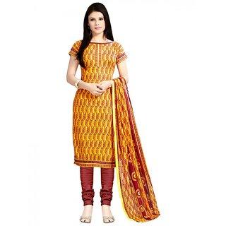 Sareemall Multi Self Designer Semi Stitched Salwar Suit With Dupatta