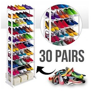 Unique Gadget Amazing Shoe Rack Portable With 10 Layer Holds Approx 30 Pairs Shoes