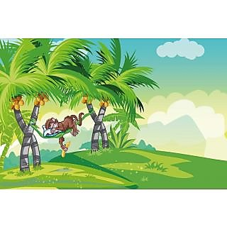 Walls and Murals Afternoon Siesta Kids Room Peel and Stick Wallpaper in Different Sizes (36 x 54)