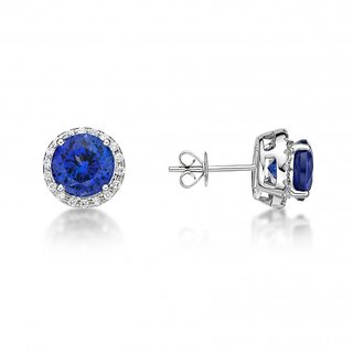 Silvosky Charming Rhodium Plated Silver Stud Earring SE2048