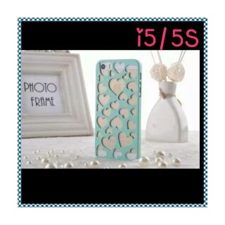 Summer Candy Color Phone For iPhone 5 5S Hollow Out Heart Radiating Hard Phone Back Cover