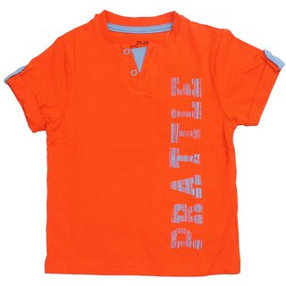 Prattle Boys Cotton T-Shirt Half Arm (Orange)