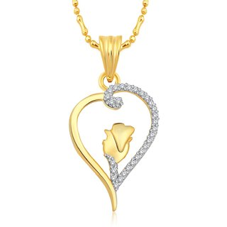 Classic Heart Rose Gold Plated Pendant  CJ1158PG