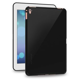 Cool Mango FlexiGel Back Cover for Apple iPad Pro 9.7 inch - Slim Fit Flexible, Glossy and Luxurious Back case for Apple 9.7 I Pad Pro - Precise Fit  Essential Device Protection (Hyper Black)