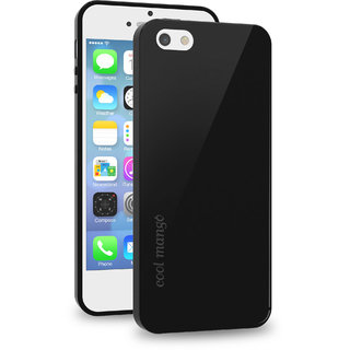 Cool Mango FlexiGel Back Cover for iPhone 5s - Slim Fit Flexible, Glossy and Luxurious Back case for iPhone 5 / 5s / iPhone SE - Precise Fit  Essential Device Protection (Hyper Black)