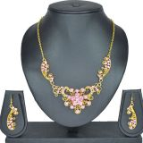 Aakshi Lac Jewellery Set In Pink