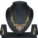 Aakshi Lac Jewellery Set In Purple