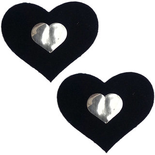 AAYAN BABY Black Heart Velvet Peel and Stick Disposable Nipple Covers